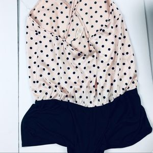 NWT Victorias Secret Polka Dot Romper Large